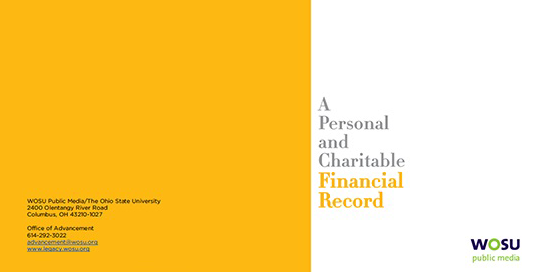 Financial Record Booklet